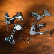 MECANIQUES BASSE GOTOH GB7 CHROME BASS Set 4 Lefty Tuners coté droit - gaucher