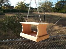 Small Handmade Cedar Fly Thru Bird Feeder Squirrel Feeder Hanging Seed Feeder