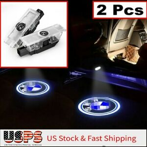 2x For B MW CREE LED PROJECTOR DOOR LIGHTS SHADOW PUDDLE COURTESY LASER LOGO