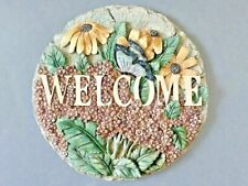 A Nice Serenity Garden Round Wall Welcome Plaque
