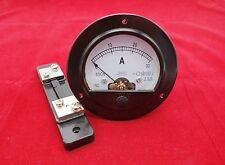 DC 0-30A Round Analog Ammeter Panel AMP Current Meter Dia. 90mm with shunt