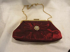 NWT ~ Small Revlon Flair Evening Bag / Purse ~ Burgundy ~ 8 1/2 x 5 Inches