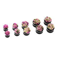 Rose Ear Tunnel Plugs Ear Gauges Expander Stretching Earlets Body Piercing