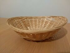 Wicker Basket Home Decor Storage Bowl Kitchen Lounge Utensils Laundry Gifts Food