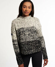 New Womens Superdry Iridescent Ombre Jumper Monochrome