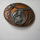 Vintage Shriners Metal Belt Buckle, Freemasons, Masonic