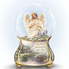 Thomas Kinkade Serenity Angel Snow Globe / Water Globe Bradford Exchange