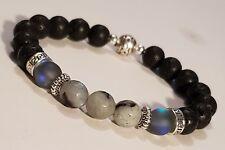 Natural Labradorite Moonstone Lava Stone Essential Oil Diffuser bead Bracelet