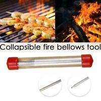 Edelstahl-Blasrohr-Blasfeuerwaffe Camping Fire Tool Bar Fire NEW T1S1