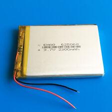 3.7V 2300mAh LiPo Battery For Tablet PC DVD GPS Camera Recorder PAD Phone 625068