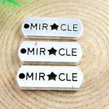 39pcs Vintage Silver Alloy Engraved MIR CLE Charms Pendant Crafts 20*8*1mm 51408