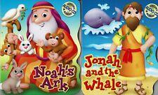 Kids Childrens Bible Songs Stories Music Lot of 2 CD Books Noah Jonah & Whale