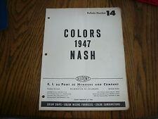 1947 Nash DuPont Dulux Color Chip Paint Sample - Vintage