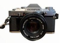 Olympus OM30 Film Camera & 50mm F1.8 Lens Lomo - Focus Confirmation Works
