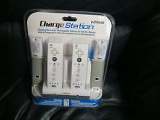 Nyko Wii Charge Station Charging Dock & 2 Rechargable Wii Batteries NEW SEALED.