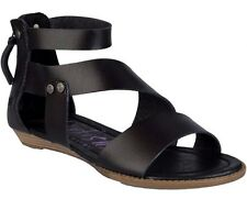 Ladies Womens Blowfish Brink Flat Sandals Black Dye Cut PU Size UK 3 EUR 36
