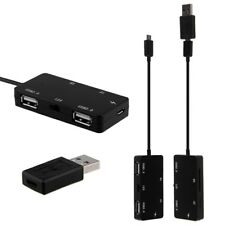 Micro USB OTG Dual Port Hub & TF/SD Card Reader With Charge for Tablet Phone