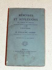 MEMOIRES ET REFLEXIONS DU COMTE DE CAYLUS HISTOIRE DE M GUILLAUME COCHER ED 1874