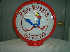 gas pump globe Road Runner reproduction 2 GLASS LENSES in a plastic body NEW