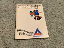 1976 Montreal Alouettes CFL Football Media Guide