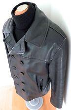 SCHOTT U.S 740N Leather Naval Pea Coat Vintage JACKET PERFECTO 740 N NAVY Sz 42