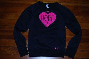 "Women's Under Armour Pink ""HOPE"" Breast Cancer ColdGear Sweatshirt (Medium)"