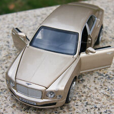 Bentley Mulsanne 1:32 Model Cars Sound&Light Alloy Diecast Collection Golden Toy