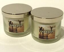 BATH & BODY WORKS LAKESIDE SCENTED MINI CANDLES 2 COUNT SET