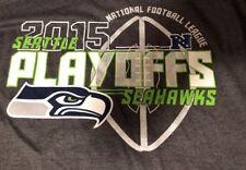 Seattle Seahawks 2015 Playoffs Majestic NFL Apparel 50/50 Blend XL Shirt New NWT