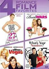 Whats Your Number/Bride Wars/27 Dresses/What Happens in Vegas (DVD, 2014) New