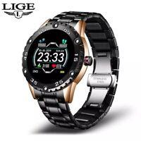 LIGE 2021 New Men Smart Watch Waterproof Sport Heart Rate Blood Pressure Fitness