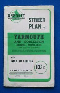 Barnett's Street Plan  - Yarmouth, Gorleston, Bradwell, Caister-On-Sea    c1974