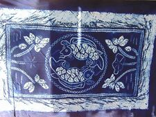 Amazing Intricate Tie Dye Fish Pattern Tapestry Or Tablecloth