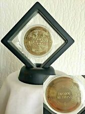 24k Gold Plated Cardano ADA Crypto currency. 1.2 oz. In 3D Floating Display Case