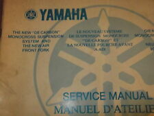 Yamaha YZ DT MX Rear suspension and air fork manual guide , 1W1 28197 80