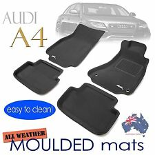 To suit AUDI A4 B8 2008 - 2015 Rubber 3D Floor Mats