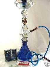 "Shisha Hookah Pipe Glass Metal FREE Charcoal Large 28"""