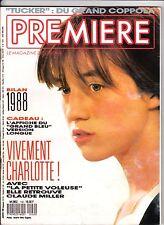 première 142 janvier 1989 charlotte gainsbourg 12 pages+ Poster du grand bleu !