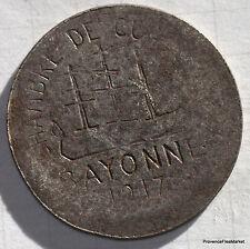 JETON DE NECESSITE - 10 centimes 1917 CHAMBRE DE COMMERCE DE BAYONNE