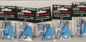 Kato N & HO Scale 24-818 Unitrack Terminal UniJoiner 35'' 5 Pack 1 Per Pk