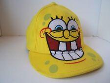 SpongeBob SquarePants Hat L/XL Yellow Stretch Fit Baseball Cap