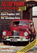 Automobil Motorrad Chronik 12 84 1984 Ford T A Lloyd Opel Kapitän 1951 Zündapp K