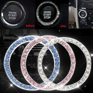 Car SUV Button Start Switch Diamond Ring Decorative Car Accessories