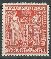 New Zealand 1931 2/10 £/sh ☀ Revenue - Mi 410 eur ☀ VMLH stamp