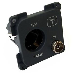 C-Line 12 Volt & TV Socket - Caravan / Motorhome / Boat (CBE) - PO252