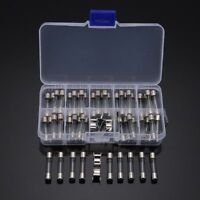Pack of 60pcs 6x30mm Quick Blow Glass Tube Fuse Kits Fast-blow Glass Fuses Set