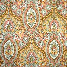70s Mod Peach Love & Harmony Vintage Original Damask Wallpaper 1960s 1970s Vinyl