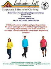 PERSONALIZED POLO SHIRTS  EMBROIDERED POLO SHIRT WORKWEAR PACKAGE PACK 8