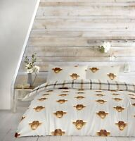 Fusion Highland Cow Grey reversible Duvet Covers