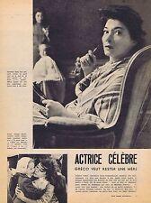 Coupure de presse Clipping 1958 Juliette Gréco  (4 pages)